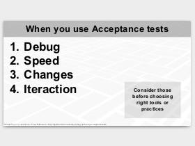 Skaidrė iš Advanced acceptance testing